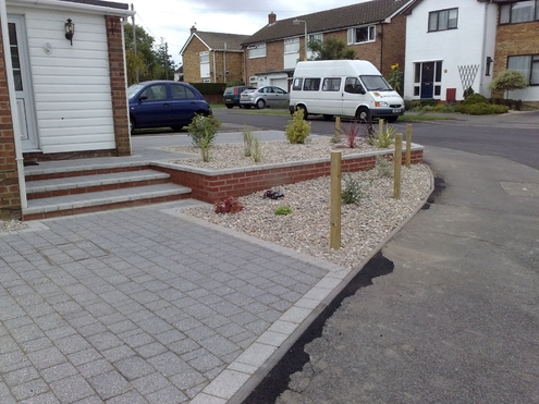 drive, block paving, modern design, low maintenance