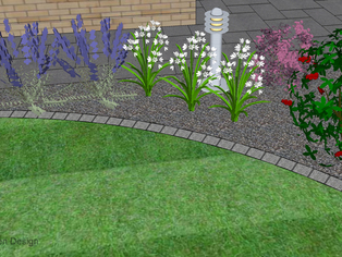This part of a garden design shows the detail that can be achieved and that any view of the garden can be supplied to help envisage the project.