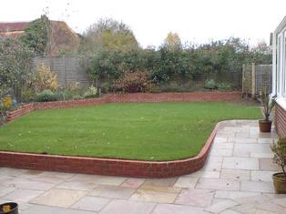 garden design, wall, soping garden, paving