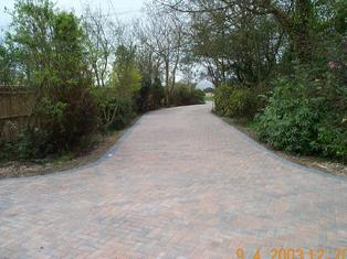 block paving, drive, oak fence, front garden design
